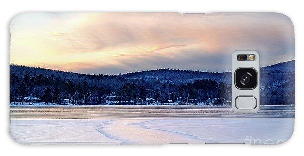 Winter Sunset On Wilson Lake In Wilton Me  -78091-78092 Galaxy Case