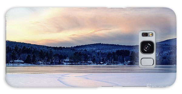Winter Sunset On Wilson Lake In Wilton Me  -78091-78092 Galaxy Case