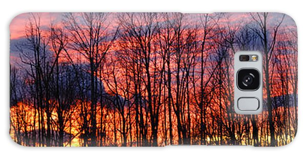 Winter Sunset Panorama Galaxy Case by Francesa Miller