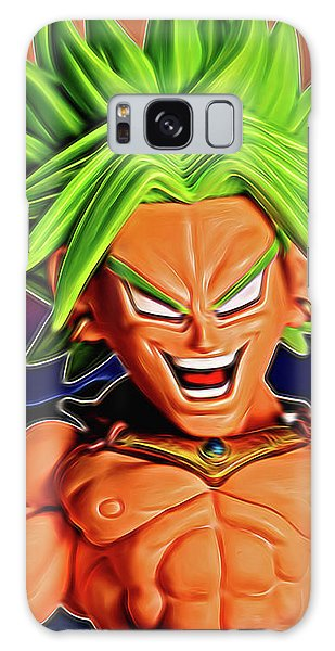 Galaxy Case featuring the digital art Sunset Ss Broly by Ray Shiu