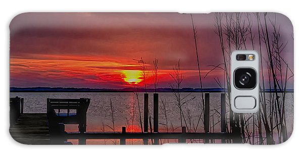 Winter Sunset Galaxy Case by Sandra Anderson