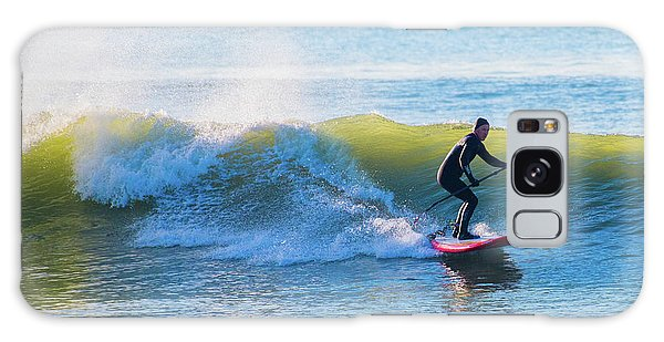 Winter Surfing In Aberystwyth Galaxy Case