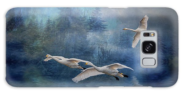 Winter Swans Galaxy Case