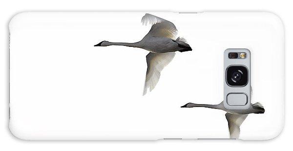 Winter Swans Galaxy Case