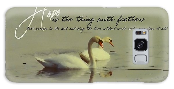 Winter Swans Quote Galaxy Case