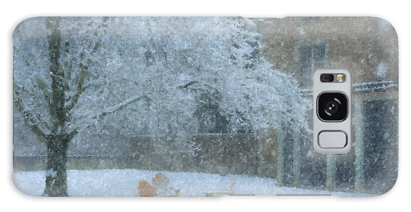 Winter Tea At Queset House Galaxy Case