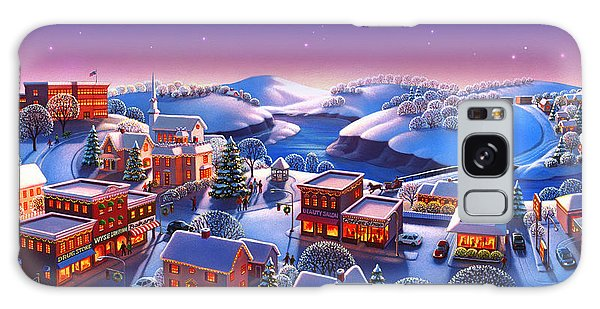 Winter Town Galaxy Case by Robin Moline