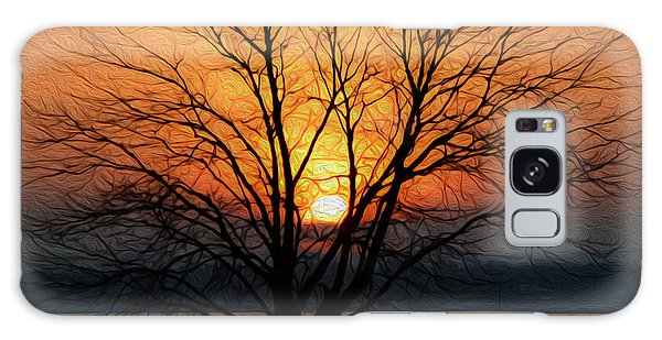 Winter Tree Sunrise Galaxy Case