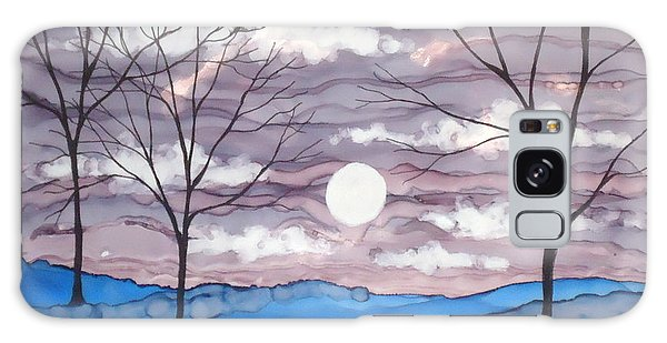 Winter Trees And Moon Landscape Galaxy Case