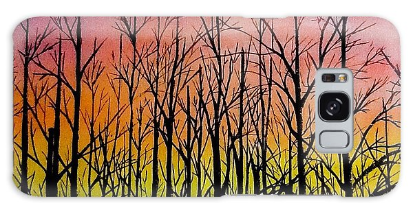 Winter Trees At Sunset Galaxy Case by Ellen Canfield