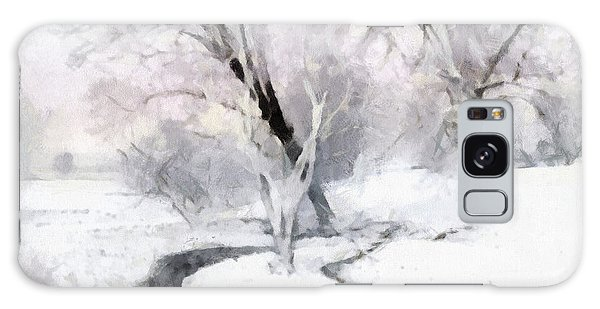 Winter Trees Galaxy Case by Francesa Miller