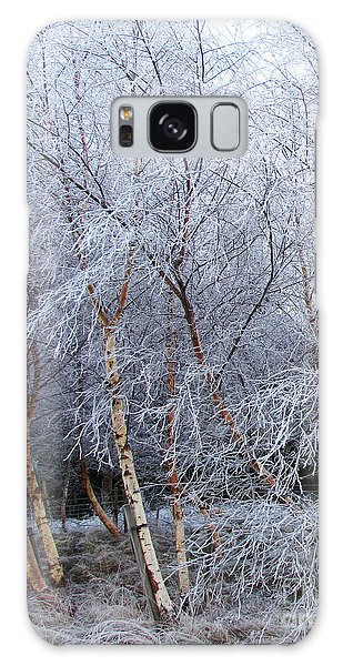 Winter Trees Galaxy Case by Jacqi Elmslie