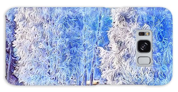 Winter Trees Galaxy Case by Ron Bissett