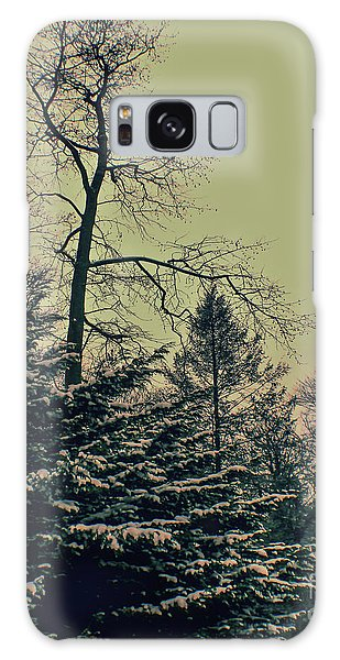 Winter Trees Galaxy Case