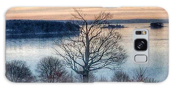 Winter Twilight At Fort Allen Park Galaxy Case