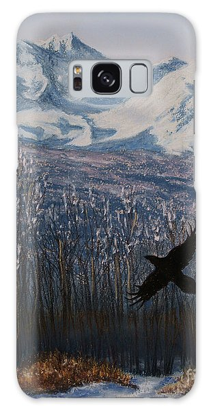Winter Valley Raven Galaxy Case by Stanza Widen