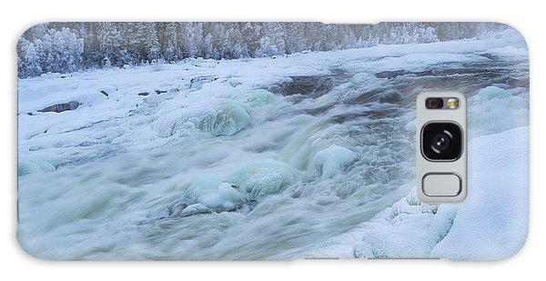 Winter Waterfall Galaxy Case by Tamara Sushko