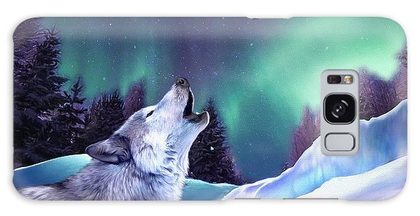 Winter Wolf Galaxy Case