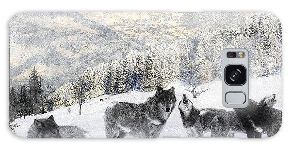 Winter Wolves Galaxy Case