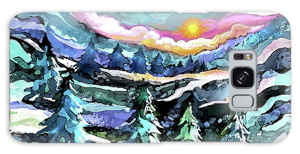 Winter Woods At Dusk Galaxy Case