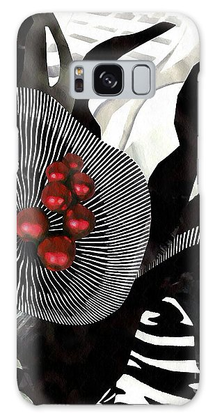 Winterberries Galaxy Case by Sarah Loft