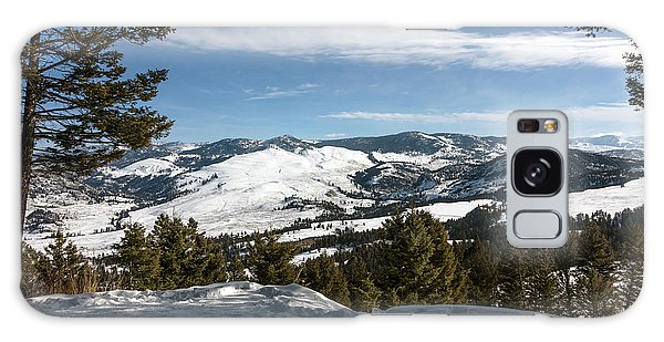 Wintertime View From Hellroaring Overlook In Yellowstone National Park Galaxy Case by Carol M Highsmith