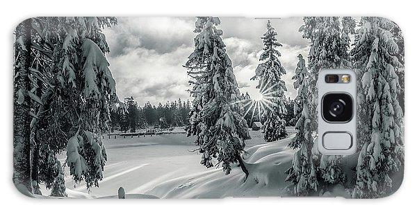Winter Wonderland Harz In Monochrome Galaxy Case