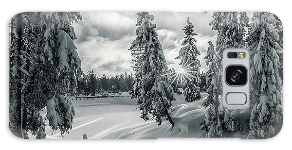 Winter Wonderland Harz In Monochrome Galaxy Case