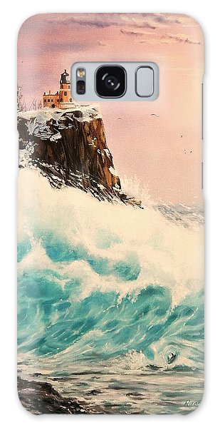 Wintery Northern Lighthouse  Galaxy Case by Ruanna Sion Shadd a'Dann'l Yoder