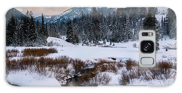 Wintery Wasatch Sunset Galaxy Case