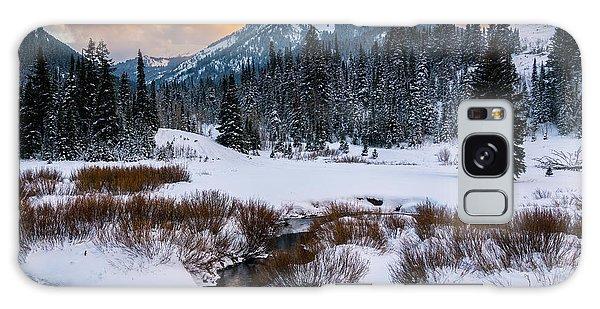 Wintery Wasatch Sunset Galaxy Case