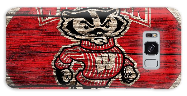 Wisconsin Badgers Barn Door Galaxy Case