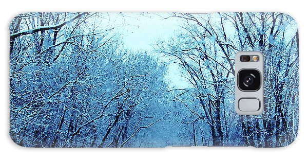 Wisconsin Frosty Road In Winter Ice Galaxy Case