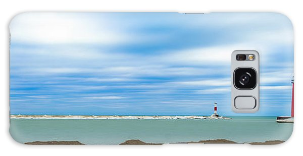 Galaxy Case featuring the photograph Wisconsin Winter Lakefront by Steven Santamour