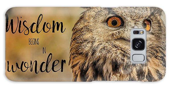Wisdom Begins In Wonder Galaxy Case