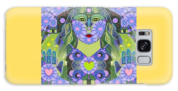 Wisdom Rising Galaxy Case by Helena Tiainen
