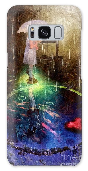 Wishing Well Galaxy Case by Mo T