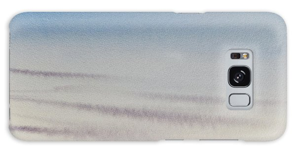 Wisps Of Clouds At Sunset Over A Calm Bay Galaxy Case