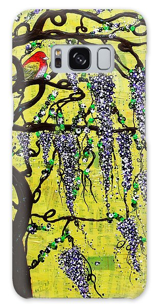 Galaxy Case featuring the mixed media Wisteria Joy by Natalie Briney