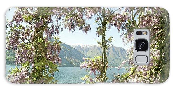Wisteria Trellis Lago Di Como Galaxy Case