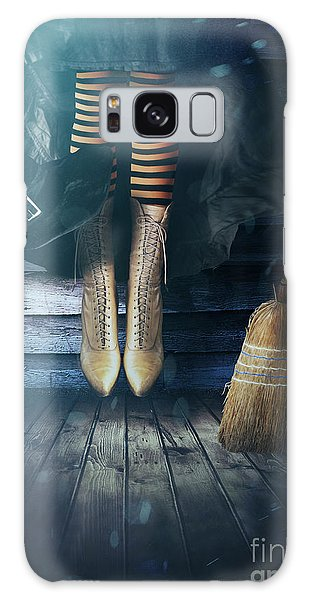Witch's Legs With Broom Galaxy Case