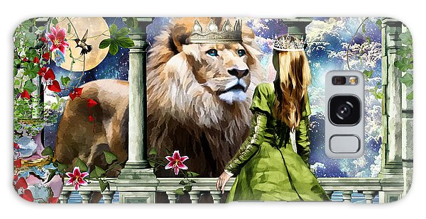 With Him I Speak Face To Face Galaxy Case by Dolores Develde