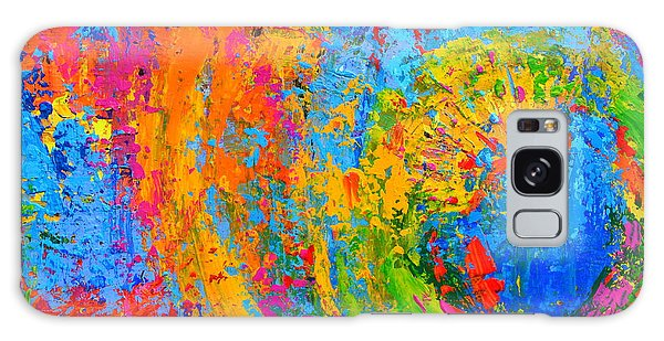 Within Circles 2 - Colorful Modern Abstract  Painting Palette Knife Work Galaxy Case