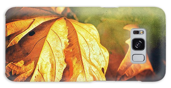 Galaxy Case featuring the photograph Withered Leaves by Silvia Ganora
