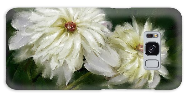 Withering Peony Galaxy Case by Bonnie Willis