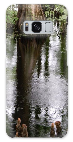 Withlacoochee River Canal Reflections Galaxy Case by Warren Thompson