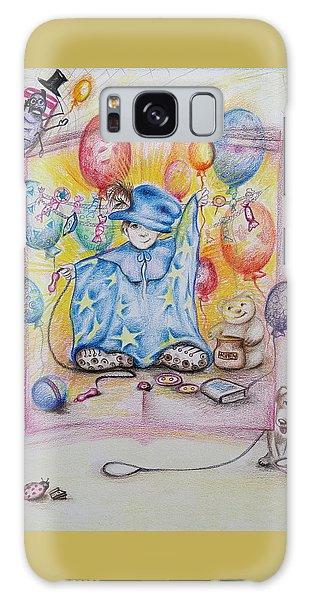 Wizard Boy Galaxy Case by Rita Fetisov