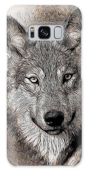 Wolf  Galaxy Case by Aaron Berg
