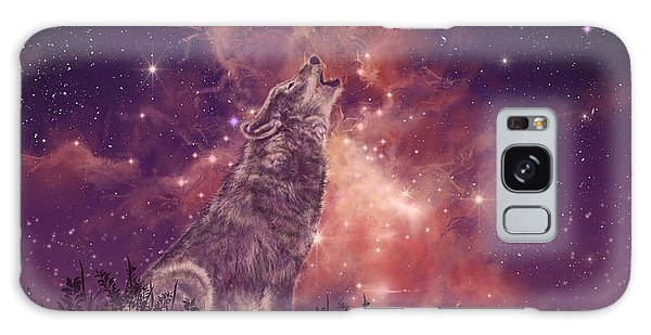 Galaxy Galaxy Case - Wolf And Sky Red by Bekim M