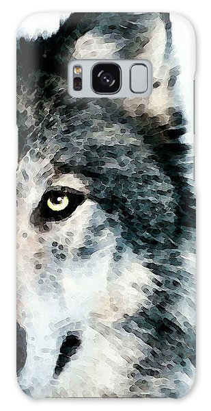 Wolf Art - Timber Galaxy Case by Sharon Cummings